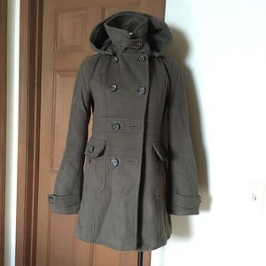 Vintage French Connection Wool Cashmere Pea Coat